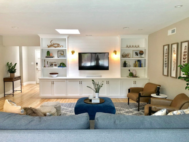 Transitional Living Room by Hope Pinc Design