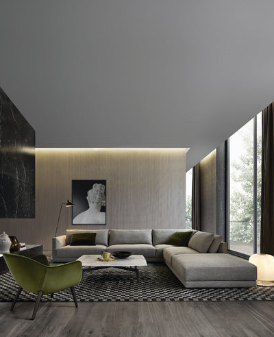 Contemporary Living Room by Poliform Australia