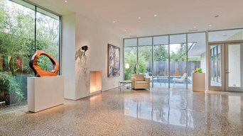 Polished Concrete Living Room