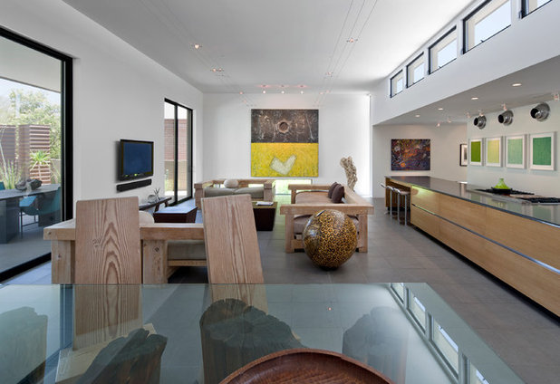 Ideal Contemporary Living Room by Ibarra Rosano Design Architects