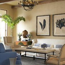 Tropical Living Room by Slifer Designs