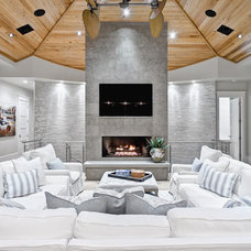Beach Style Living Room by Beach Chic Design