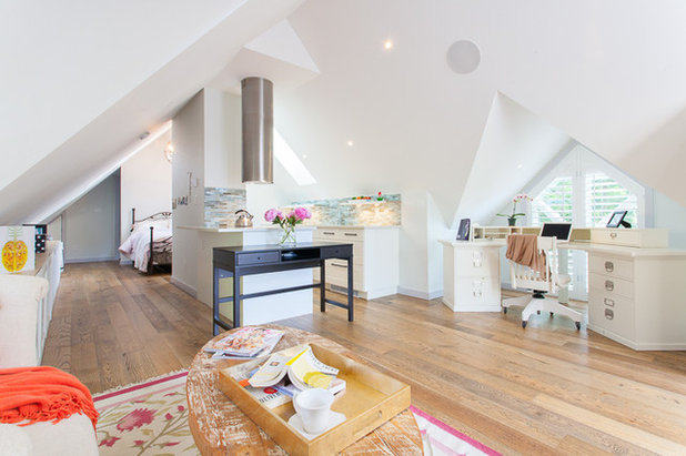 Houzz Tour An Elegant Studio Apartment Over The Garage