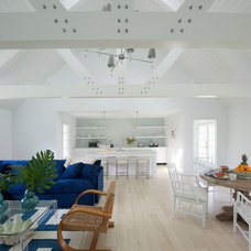 Beach Style Family Room by James Schettino Architects