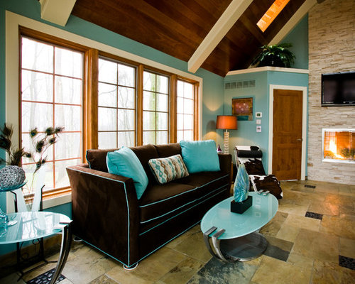 Chocolate Brown And Turquoise Home Design Ideas Renovations Photos