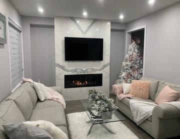 Porcelain Fireplace