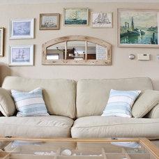 Beach Style Living Room by Kimberley Bryan