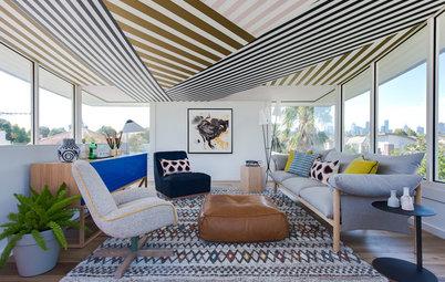 Papel pintado en el techo: Ideas de decoración para toda la casa