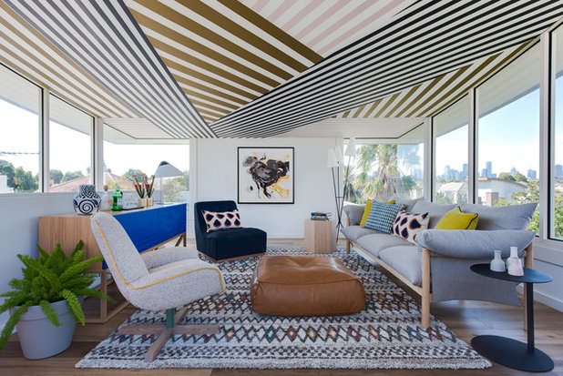 Eclectic Living Room by Alexander Pollock Interiors