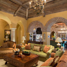 Mediterranean Living Room by Herscoe Hajjar Architects, LLC