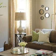 Farmhouse Living Room by Victoria Elizabeth Design