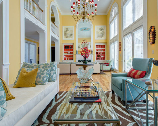 Living Room Yellow And Red yellow blue red | houzz