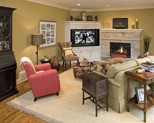 Entertainment Center Design Ideas built in entertainment center with fireplace ideas Eclectic Living Room Idea In Minneapolis With A Stone Fireplace Surround