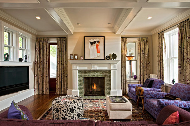 Eclectic Living Room by balzer + tuck architecture