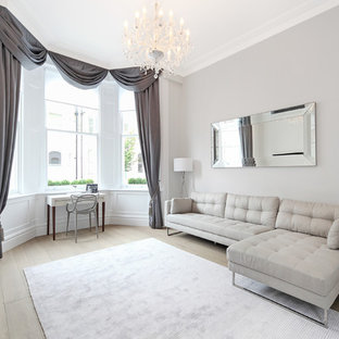 Transitional Living Room Photo In London