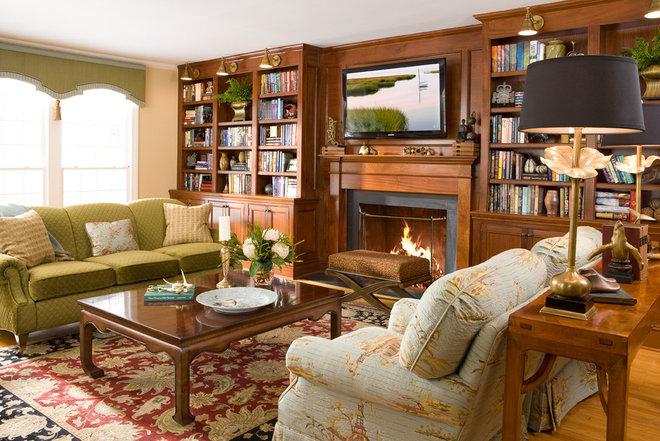 Traditional Living Room by Cynthia Mason Interiors
