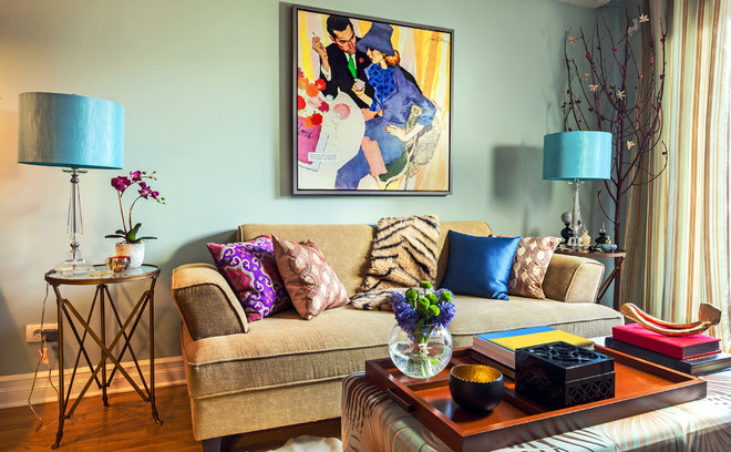 Eclectic Living Room by D3SIGNCUBE™