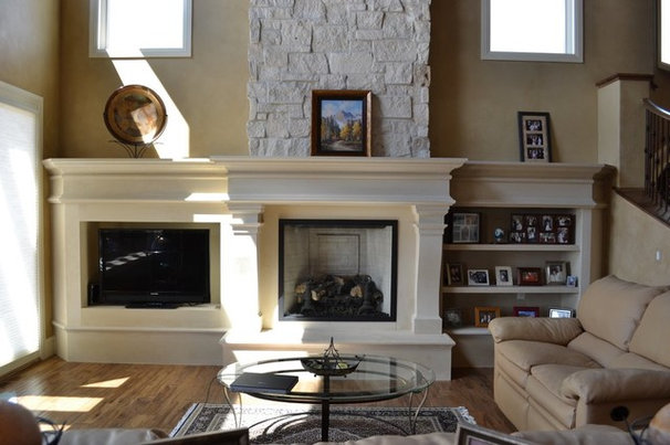 Traditional Living Room by Distinctive Mantel Designs, Inc
