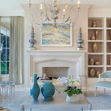 Traditional Living Room by ibi designs