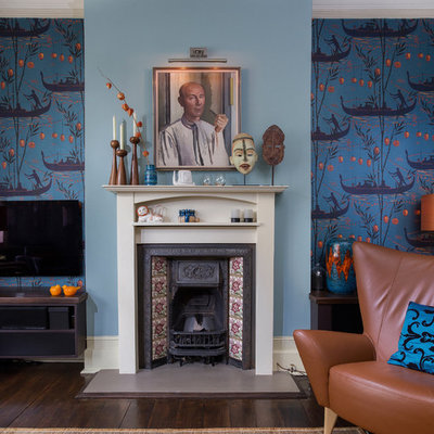 Eclectic living room photo in London