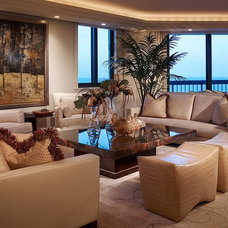 Transitional Living Room by Integrative Designs Inc.