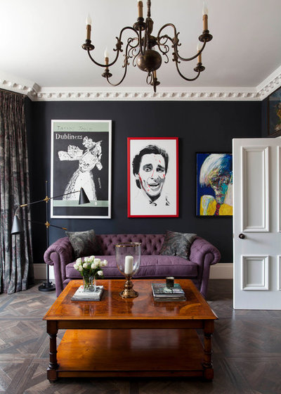 Eclectic Living Room by J'adore Decor