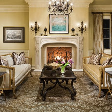Traditional Living Room by Jennifer Bevan Interiors