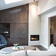 Modern Living Room by John Goldsmith Photography
