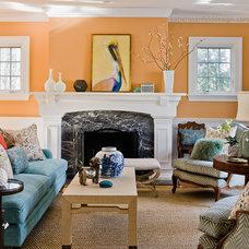 Eclectic Living Room by Katie Rosenfeld Design