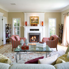 Traditional Living Room by Steve Wallace Design