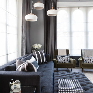 Inspiration for a contemporary living room in Sussex.