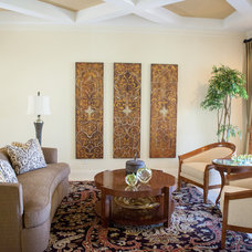 Transitional Living Room by Touche' Design Studio