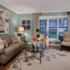 Traditional Living Room by June Stanich Photography