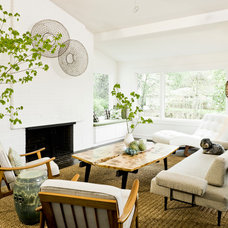 midcentury living room by Jessica Helgerson Interior Design