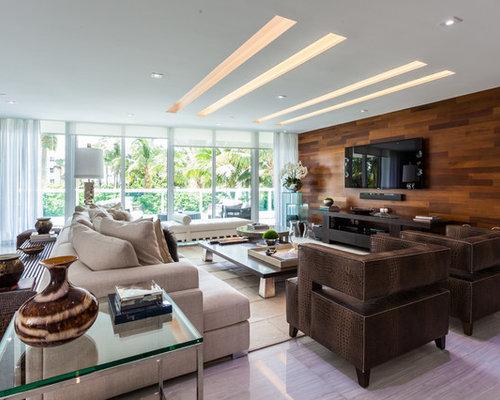 wohnidee f r gro e offene moderne wohnzimmer ohne kamin mit wei en. Black Bedroom Furniture Sets. Home Design Ideas