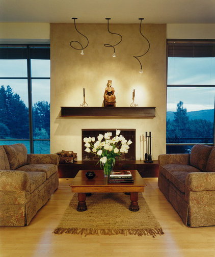 Rustic Living Room by Dan Phipps Architects
