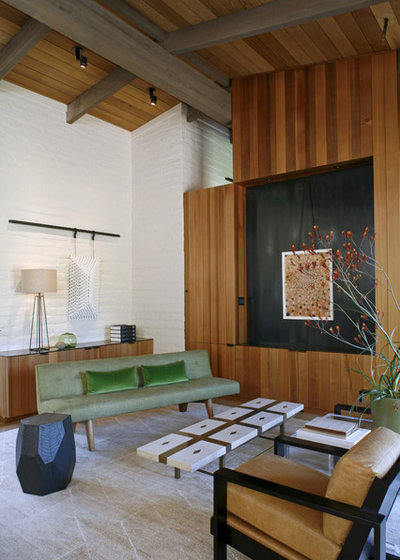 Midcentury Living Room by The Office of Charles de Lisle