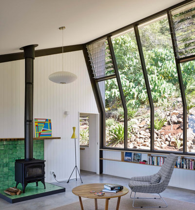 Midcentury Living Room by DFJ ARCHITECTS