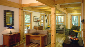 Post and Beam Farmhouse Living Room