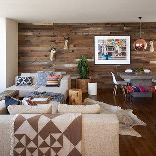 Idée de décoration pour un salon sud-ouest américain ouvert avec une salle de réception.