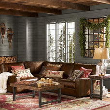 Rustic Living Room by Pottery Barn