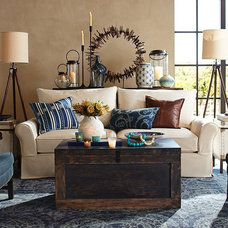 Eclectic Living Room by Pottery Barn
