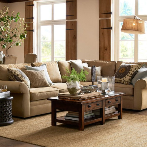 inspiration for a timeless living room remodel in san francisco save photo pottery barn