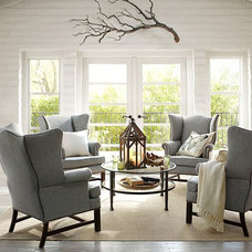 Contemporary Living Room by Pottery Barn