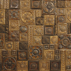 Traditional Living Room Pottery Ramble wall covering