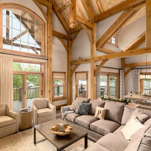 Living Room   Rustic Living Room Idea In Columbus