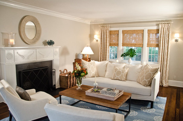 Traditional Living Room by Rajni Alex Design