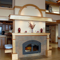 Contemporary Living Room by Kaufman Construction Design and Build