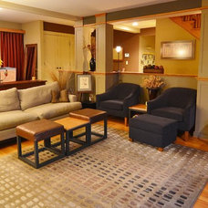 Craftsman Living Room by Kaufman Construction Design and Build