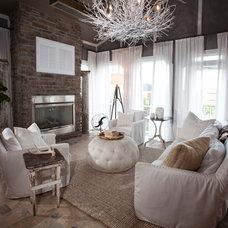 Contemporary Living Room by R. Cartwright Design
